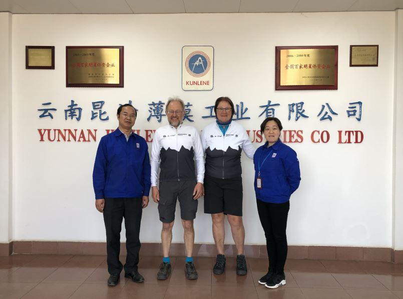 Besuch bei einem Brückner Kunden: Yunnan Kunlene   -   Visit at a Brückner customer: Yunnan Kunlene