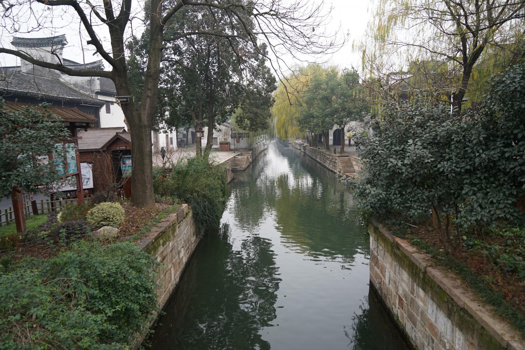 """Wasserstädtchen Nanxun - solche gibt es Dutzende in der Region um Suzhou: Viele kleine Venedigs.... manche nennen sich sogar """"Venice of the East"""", so auch Suzhou."""